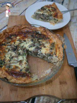 Cheesy Mushroom Quiche