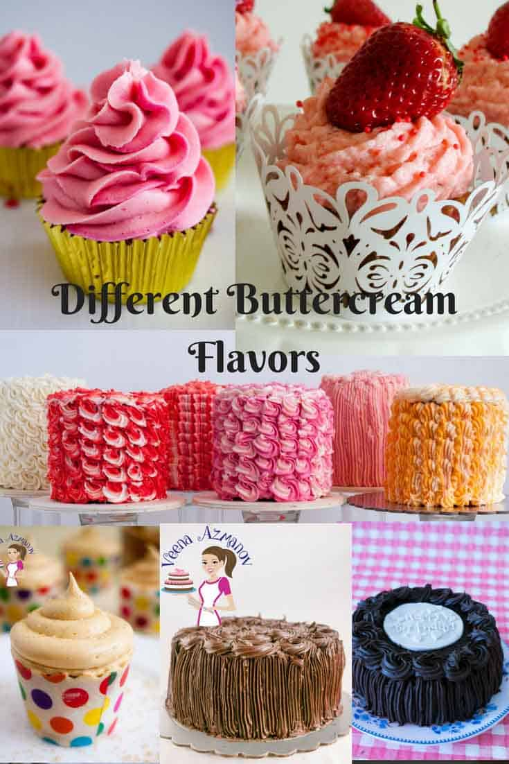 Different Buttercream Flavor Recipes by Veena Azmanov