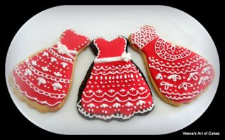 Lace inspired dress cookies