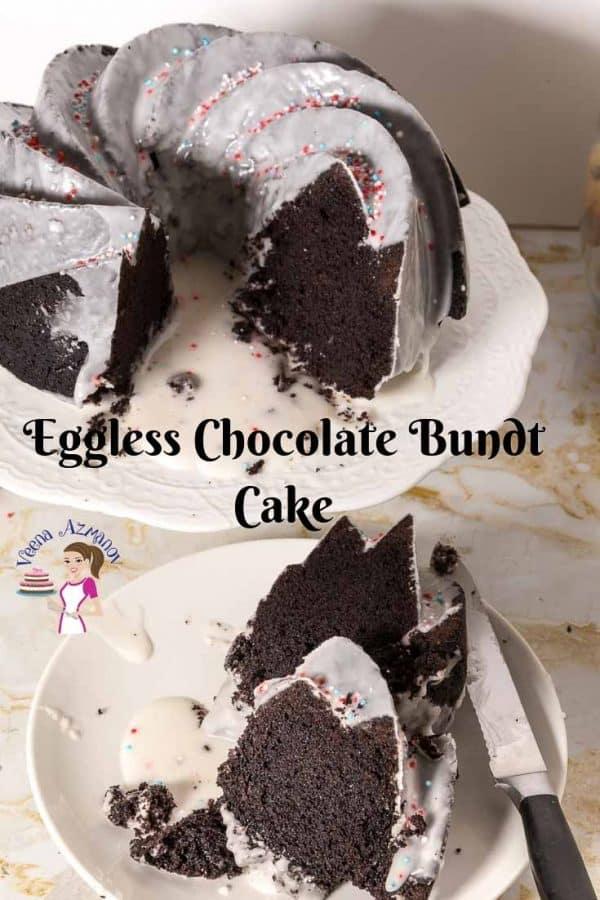 The perfect eggless, no-yogurt, no-condensed milk chocolate bundt cake.