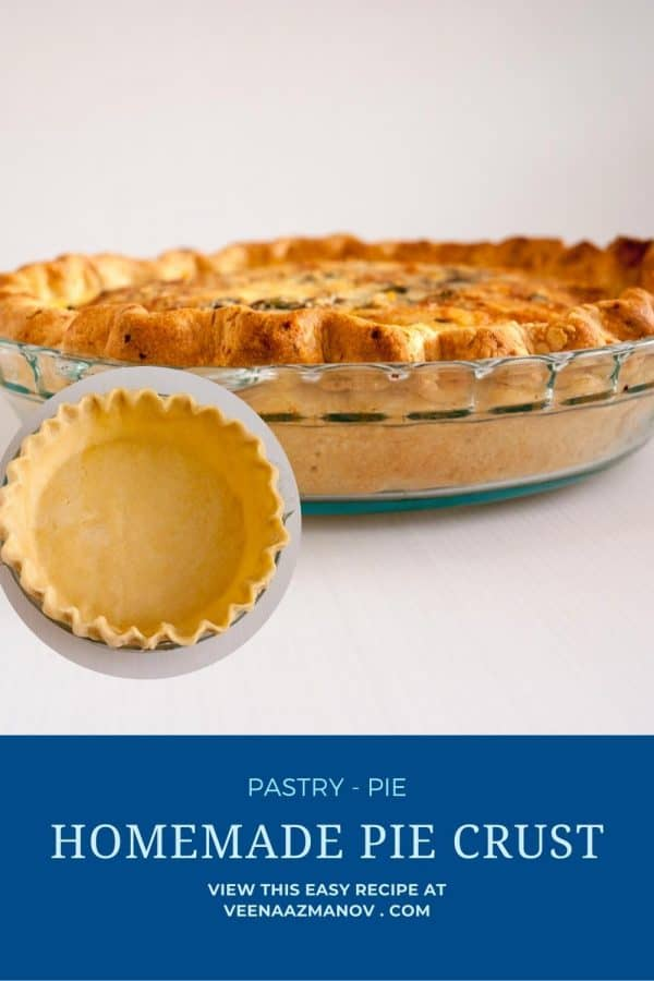 Pinterest image for crust for pies.