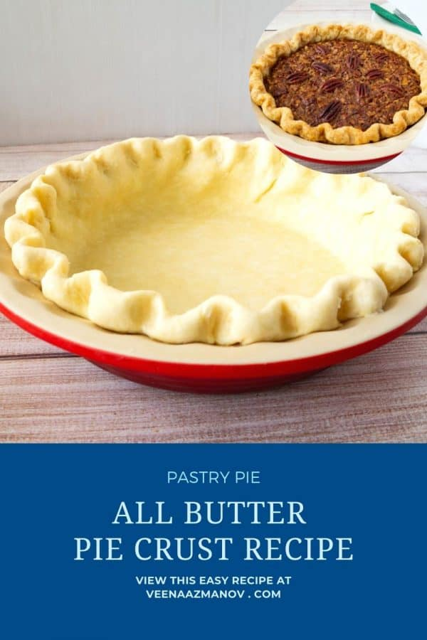 Pinterest image for crust for pie.