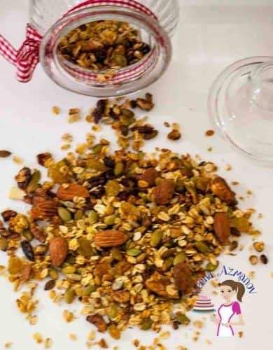 Fruit and Nuts Homemade Granola is not just a healthy but also a nutritious way to start your day. Adding you family favorites is the best way to get every member in the family to eating right.