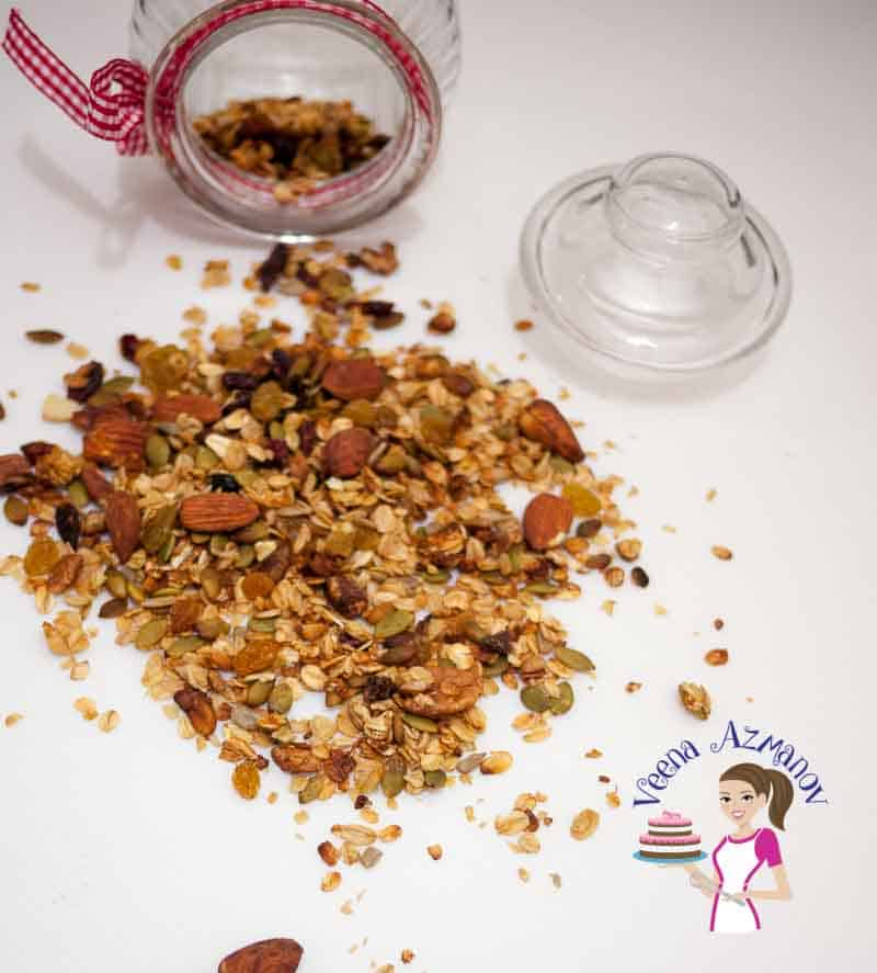 Healthy Fruit and Nut Granola is not just a healthy but also a nutritious way to start your day. Adding you family favorites is the best way to get every member in the family to eating right.
