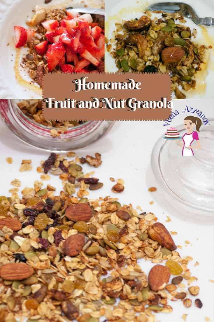 Fruit and Nut Homemade Granola is not just a healthy but also a nutritious way to start your day. Adding you family favorites is the best way to get every member in the family to eating right.