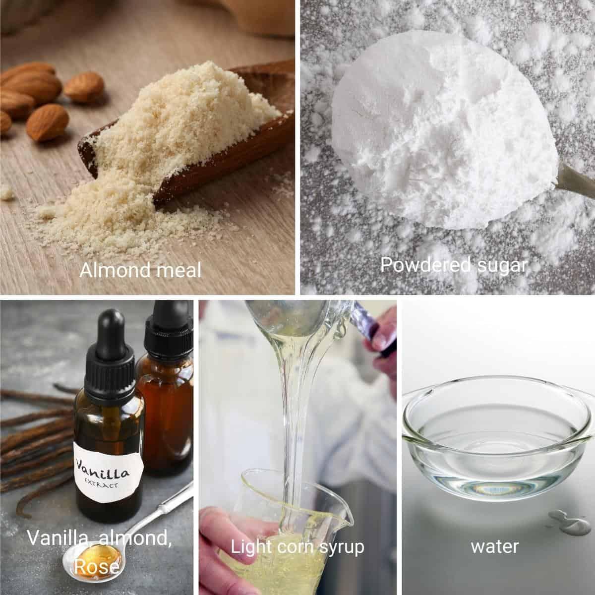 Ingredients shot - homemade Marzipan.