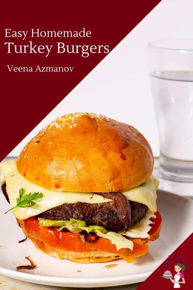 Homemade Burgers made with Kebab Marinade