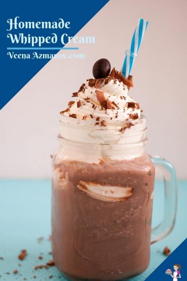 Pinterest image for whipped cream.