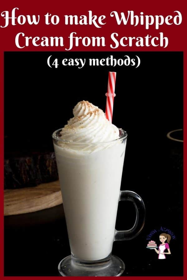Eggless Vanilla Eggnog topped with Whipped Cream