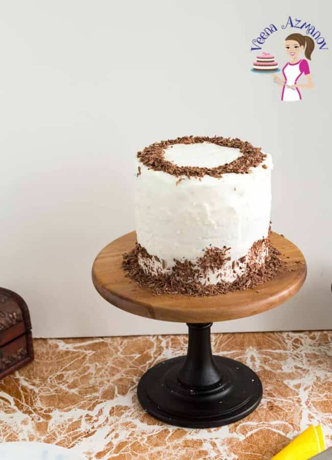 Chocolate Chiffon Cake with stabilized whipped cream frosting