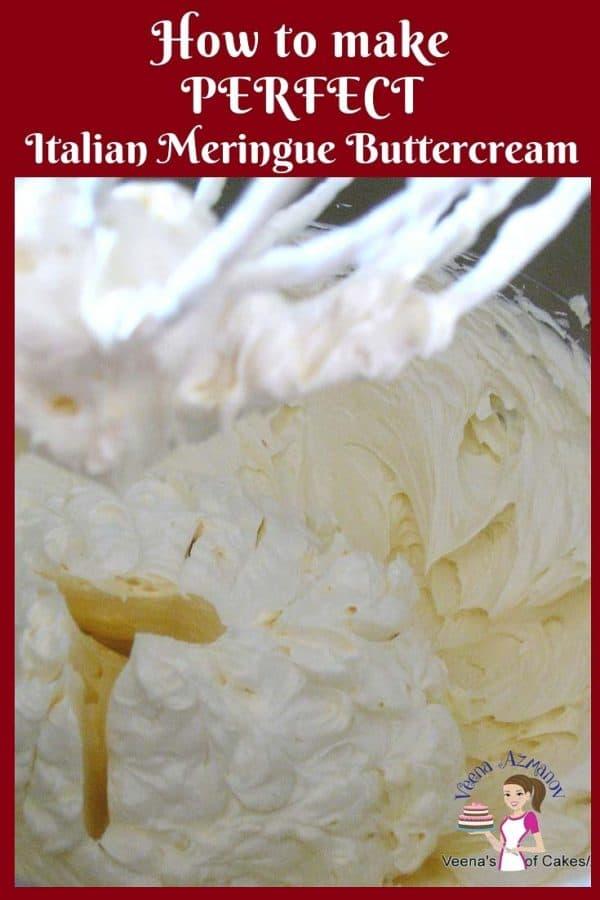 Learn to make the best Italian Meringue Buttercream aka IMBC Recipe using my NO-Fail Recipe