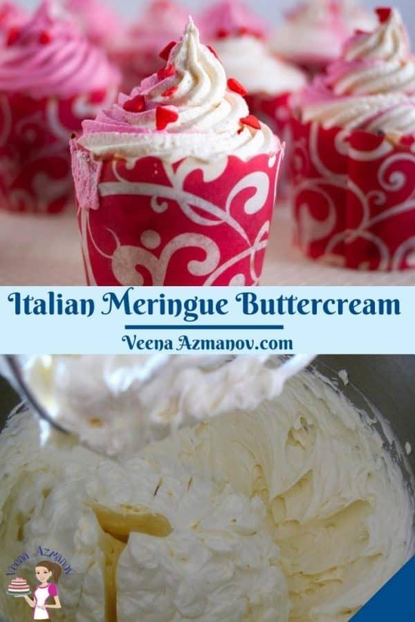 Pinterest image for Italian frosting.
