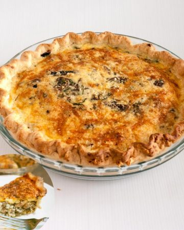 How to make a mushroom quiche from Scratch with homemade pie crust
