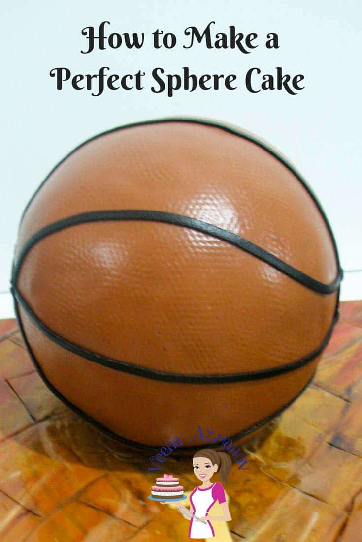 Make a Perfect Sphere Cake Sphere Cake Tutorial Veena Azmanov