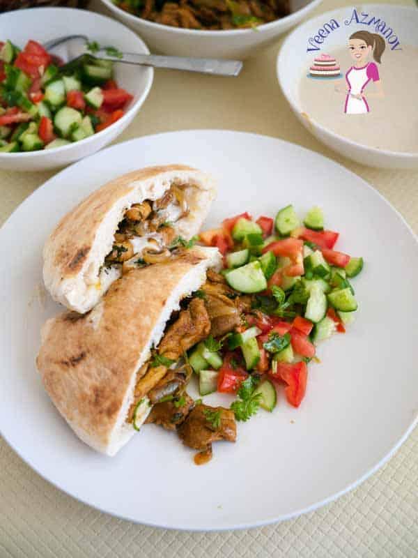 Quick Homemade Shawarma Chicken Aka Pocket Shawarma Recipe Veena