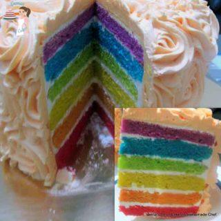 Simple and Easy Rainbow Cake Recipe