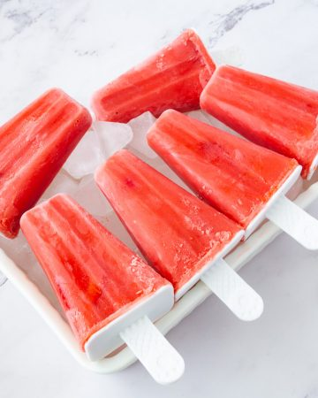 Popsicles on crushed ice.
