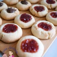The BEST Thumbprint Cookies Eggless Jam Cookies Recipe