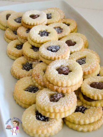 Almond Linzer Cookies are not just beautiful but delicious too and make perfect Christmas gifts to family and friends.