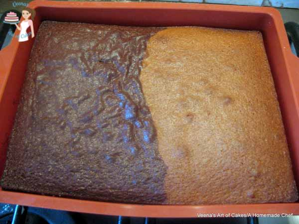 Vanilla Chocolate Sheet Cake