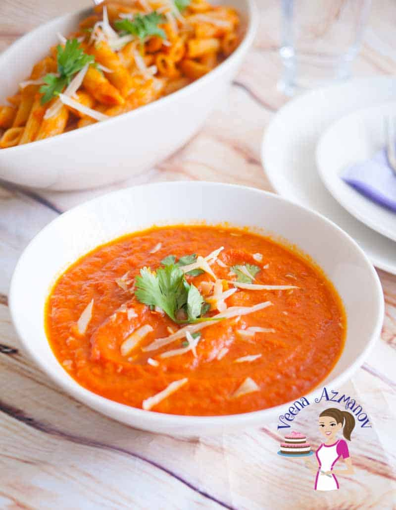 Making homemade tomato sauce with fresh tomatoes is not difficult but often getting that nice bright red color is a challenge. With my simple easy trick you will make beautiful bright red tomato sauce every single time.