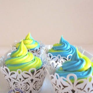 An image optimized for social media share for this step by step tutorial for the best buttercream frosting recipe ever. Vanilla buttercream recipe.