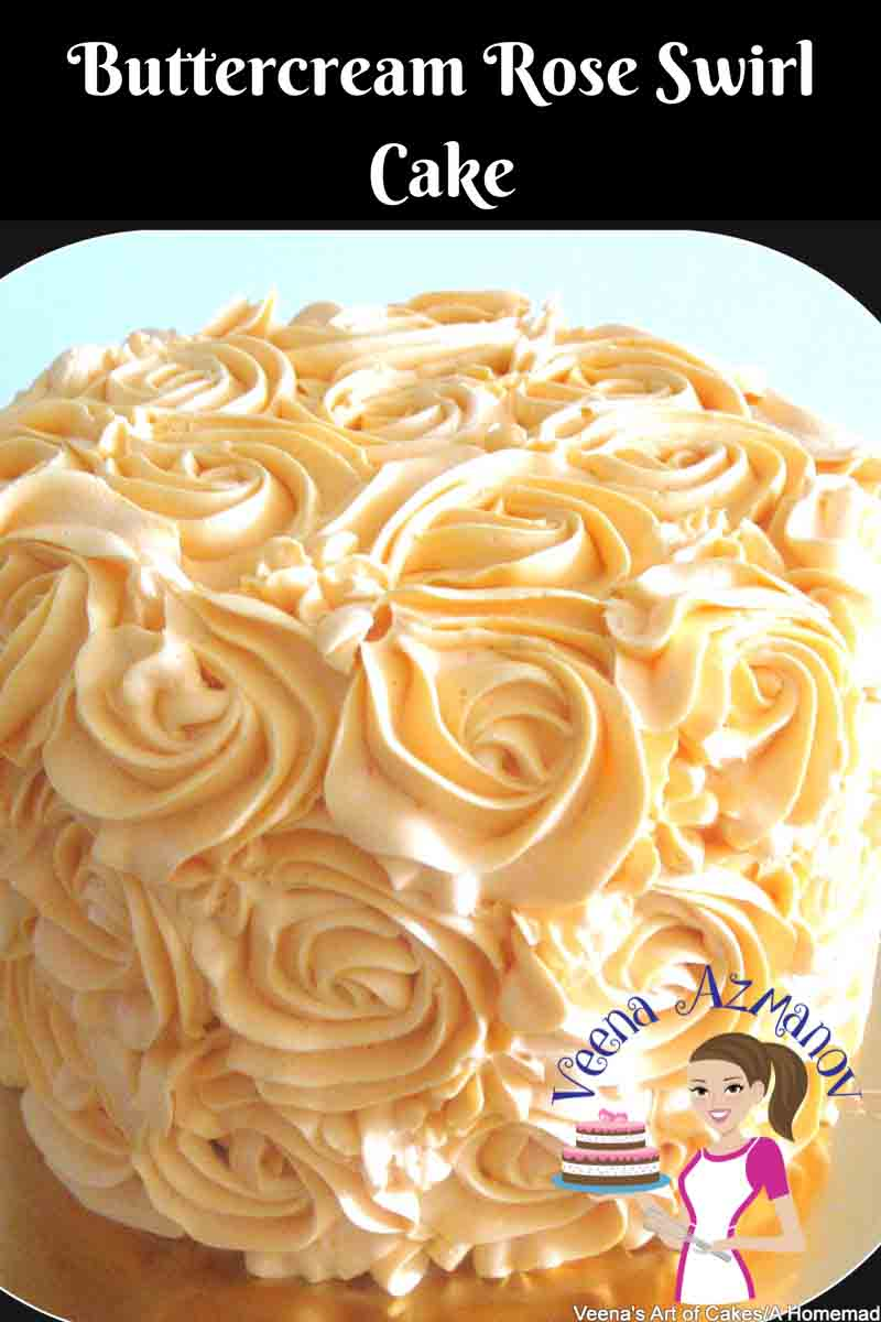 Buttercream Rose Swirl Cake