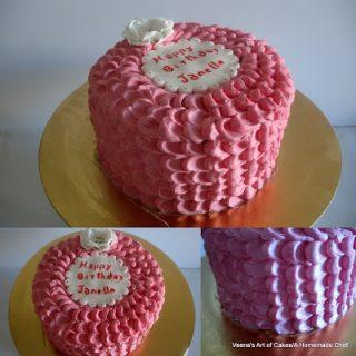 Buttercream Rose Petal Cake