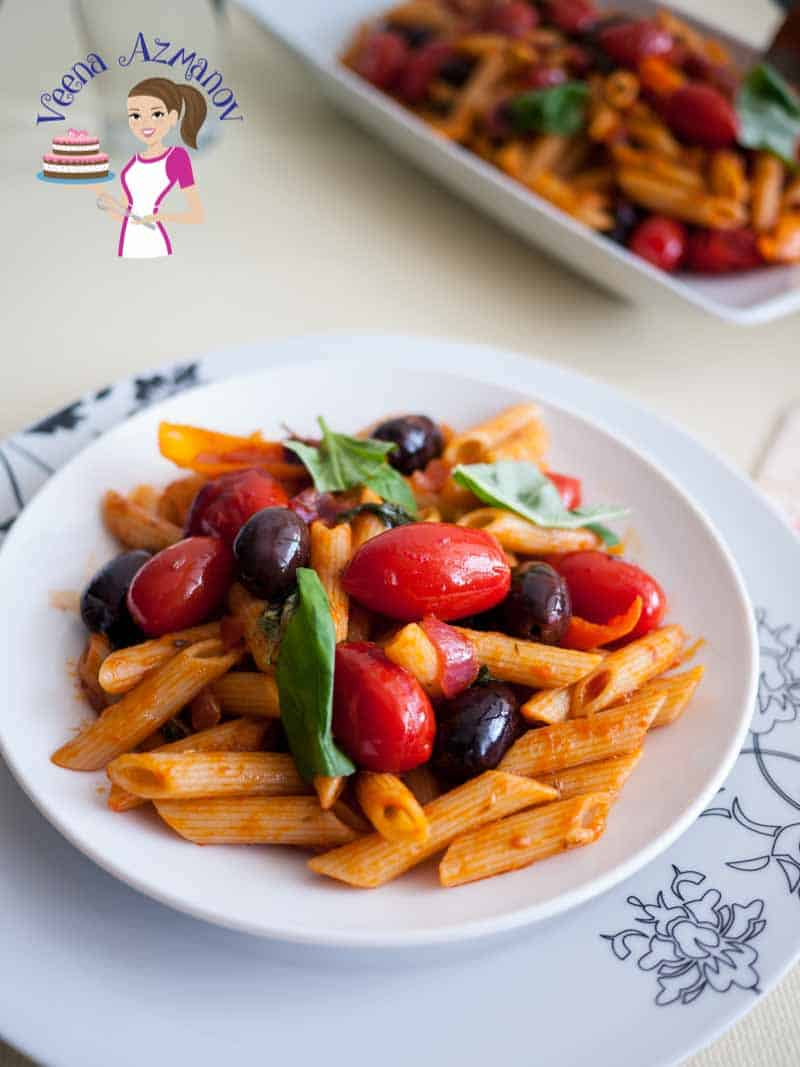 Cherry Tomatoes Olives and Basil Pasta – 20 minutes