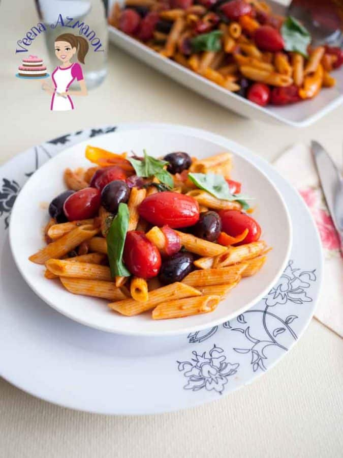 This simple, easy colorful and nutritious cherry tomatoes olives and basil pasta gets done in just 20 minutes. A perfect dish to entertain or prepare as a quick one pot meal. It has become a family favorite for us.