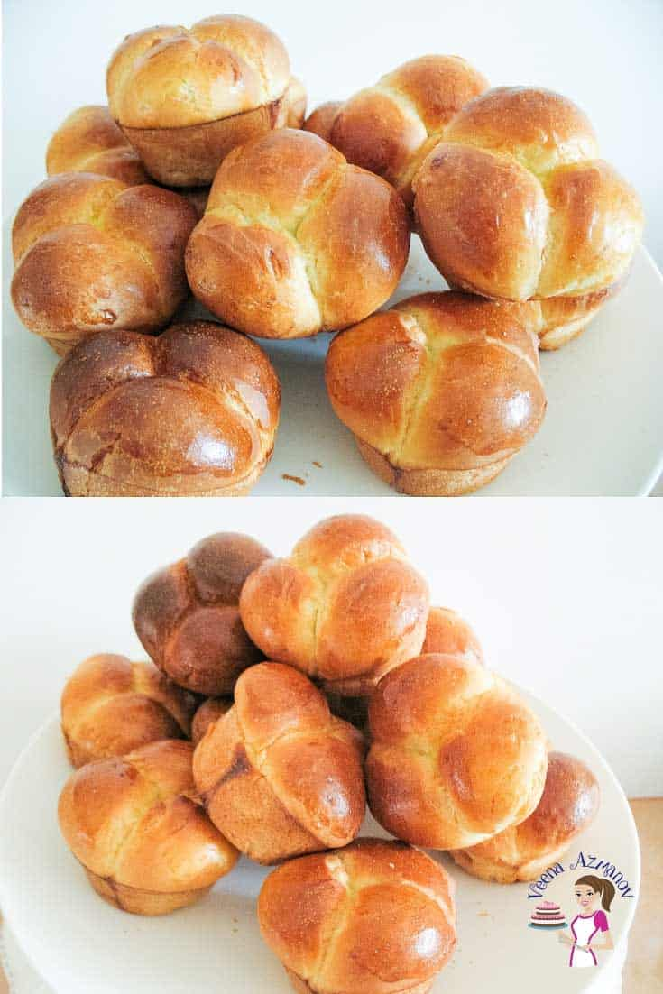 Homemade Bread, white bread recipe, cloverleaf shaped rolls - with progress pictures