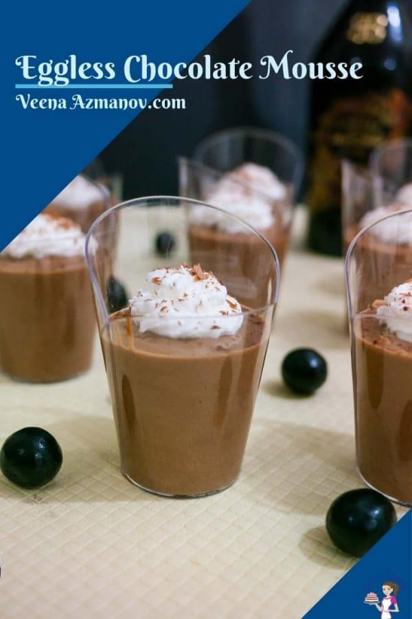 Pinterest image for eggless mousse