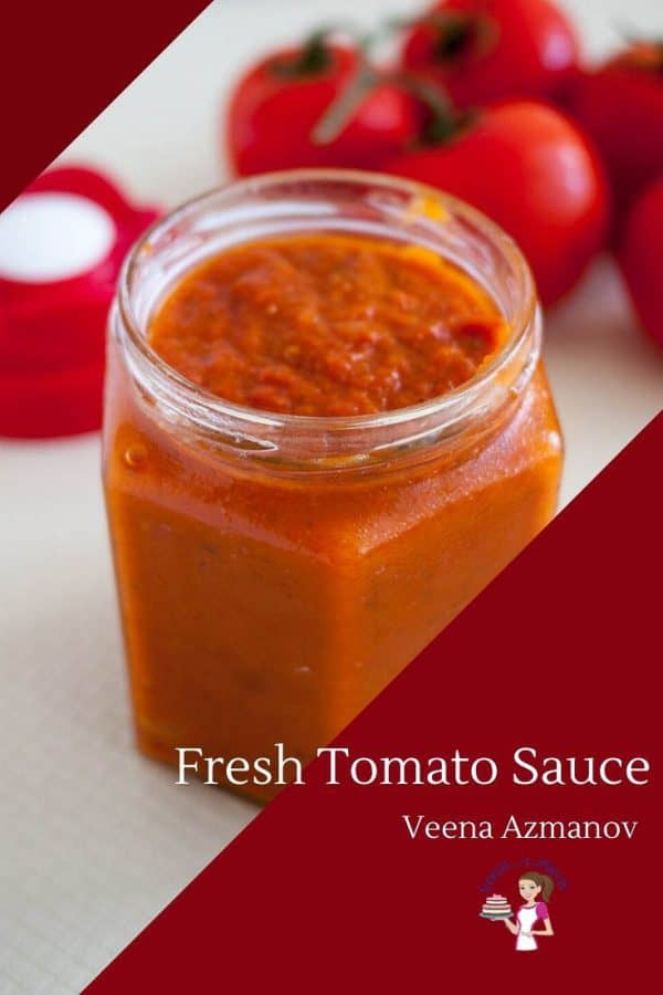 How to make one Tomato Sauce for all your different pastas with fresh tomatoes in just 15 minutes