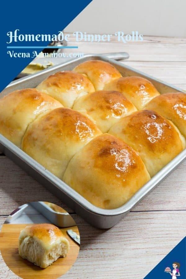 Pinterest image for dinner rolls.