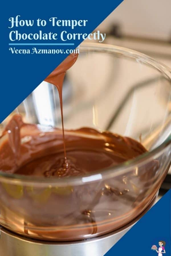 Pinterest image for tempering chocolate