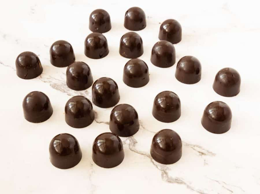 Chocolate bonbons on the table