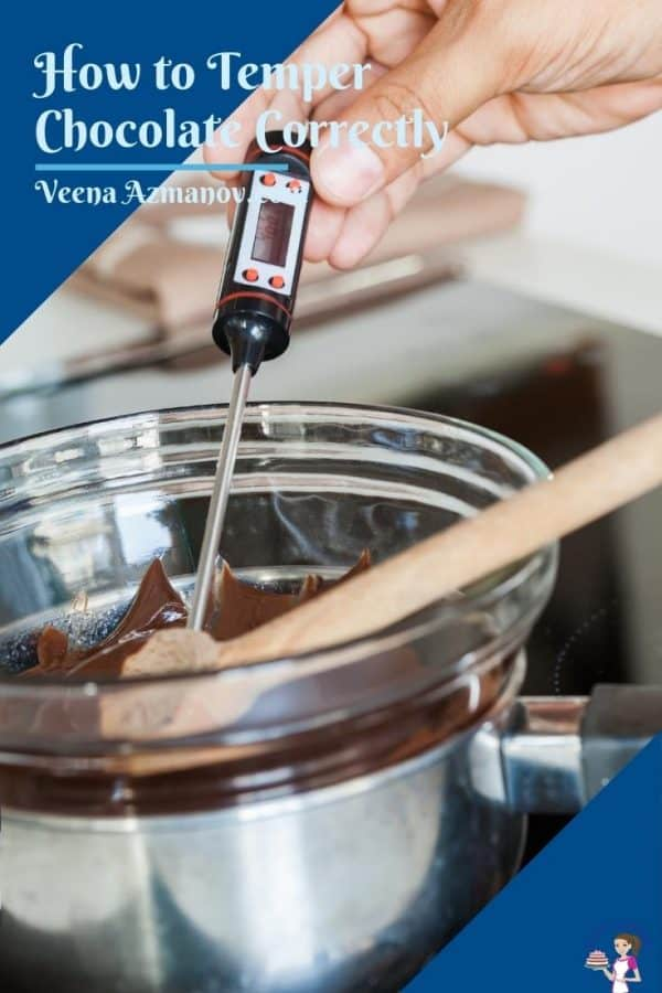 Tempering chocolate on the double boiler