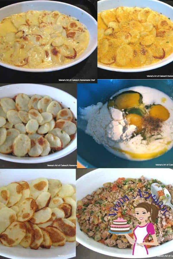 A delicious and pretty meat casserole is perfect for entertaining. The Layered beef potato casserole is a simple and easy make a head dish that can be baked just before your guest arrive or baked just before dinner on busy weeknights. #beef #potato #casserole #middleeastern #cuisine #makeahead #baked #dinner #lunch #entertaining #recipes