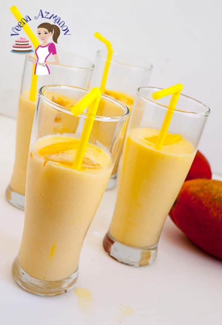 Mango Lassi Recipe - Mango Yogurt Drink