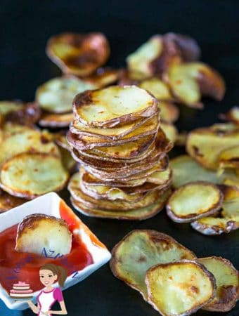 Oven-Baked Potato Chips aka Oven-Fried Potato Chips