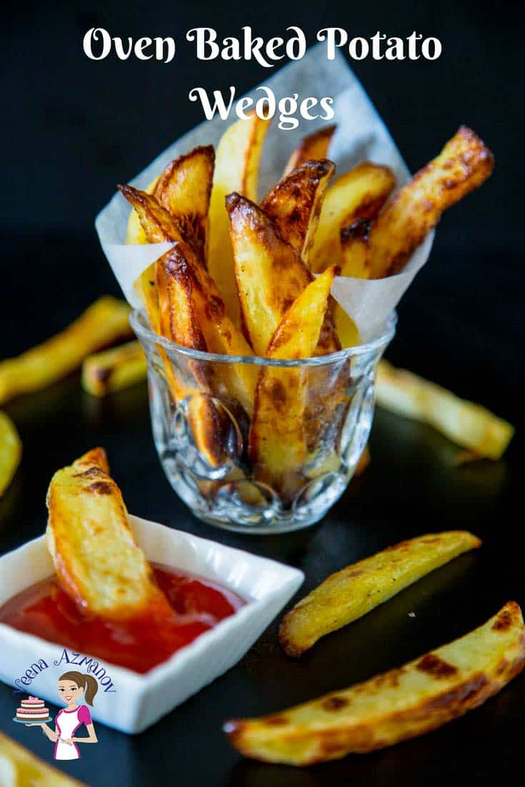 These oven baked potato wedges make perfect sides to a main course, with burgers, roast chicken or just as a snack when you craving for some delicious fried food. A simple, easy and effortless recipe that will have you eating oven fried potato wedges with fraction of oil used in traditional deep fried potato wedges.