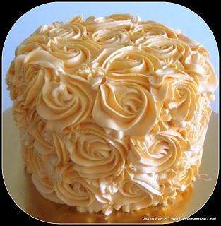 Buttercream Rose Swirl Cake