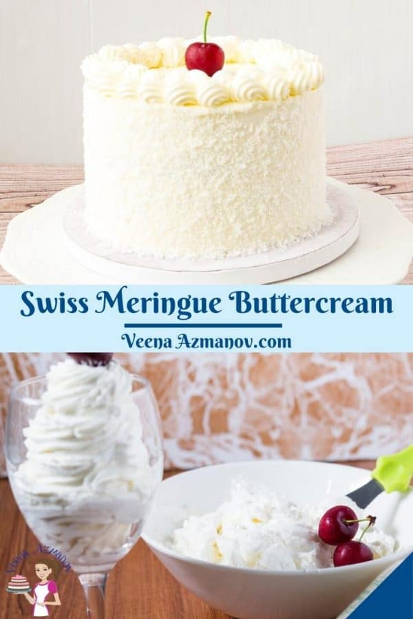 Pinterest image for Swiss Meringue Frosting.