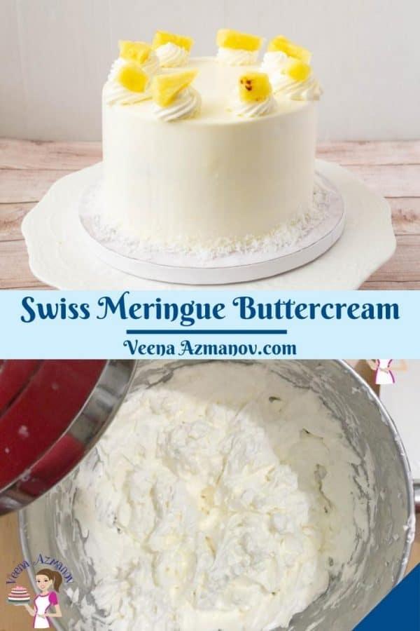 Pinterest image for Swiss Meringue Buttercream.