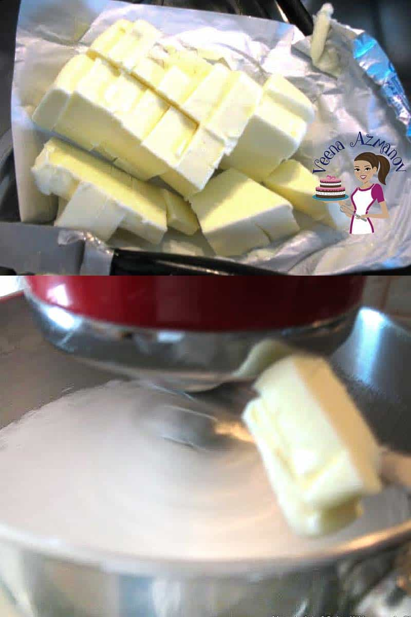 Progress Pictures for social for this no-fail recipe and video tutorial for Swiss Meringue Buttercream Recipe. Perfect for cakes and cupcakes.