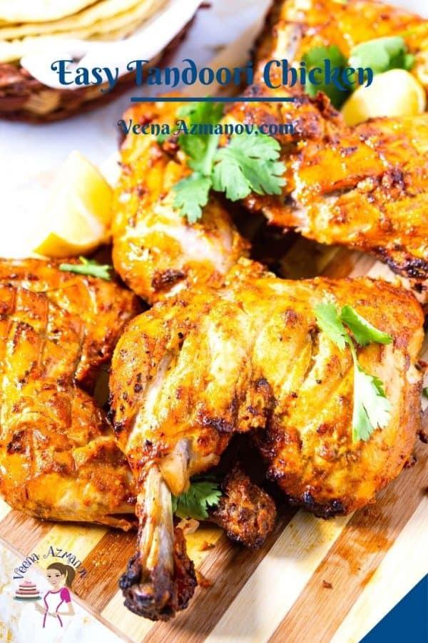 Pinterest image for chicken tandoori.