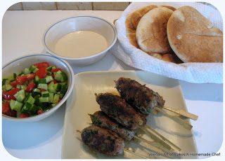 Turkey kebabs Middle Eastern style