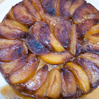 An image optimized for social media share for this Apple Honey Tarte Tatin using my no-fail easy to follow three step process.