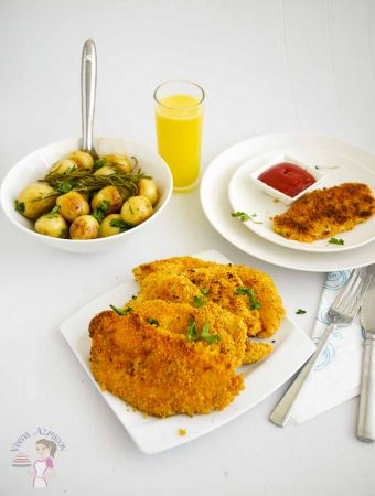 Breaded Chicken Breast – Not Fried – Chicken Schnitzel