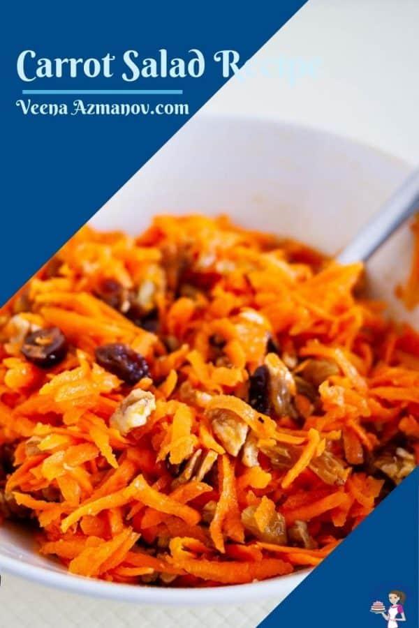 Pinterest image for carrot salad